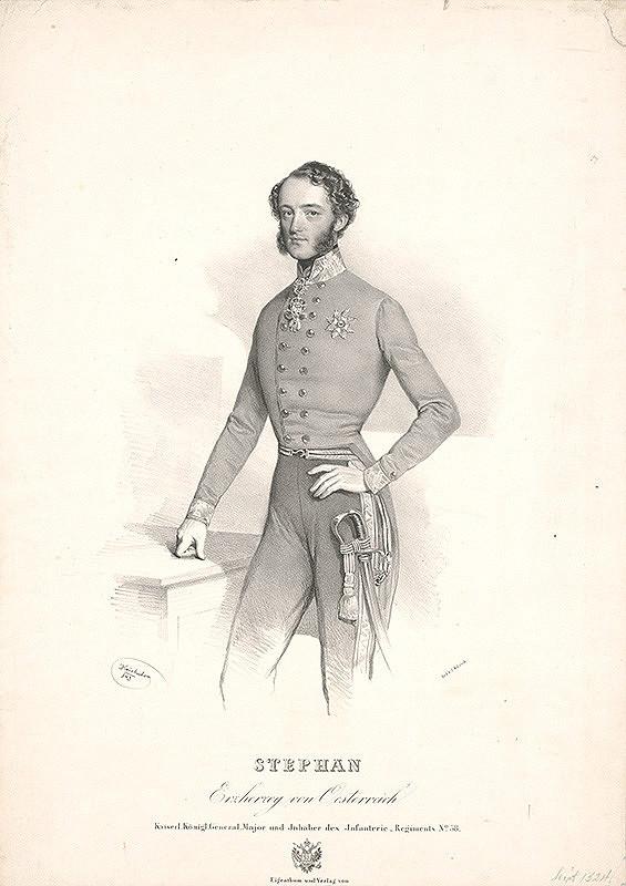 Joseph Kriehuber – Portrét arcikniežaťa Štefana Franza Viktora von Österreich