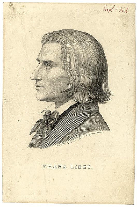 Carl Arnold Gonzenbach, Wilhelm von Kaulbach - Franz Liszt