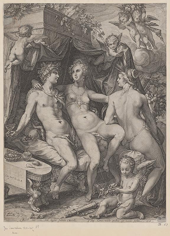 Pieter Jansz. Saenredam, Hendrick Goltzius - Bacchus, Venuša a Ceres
