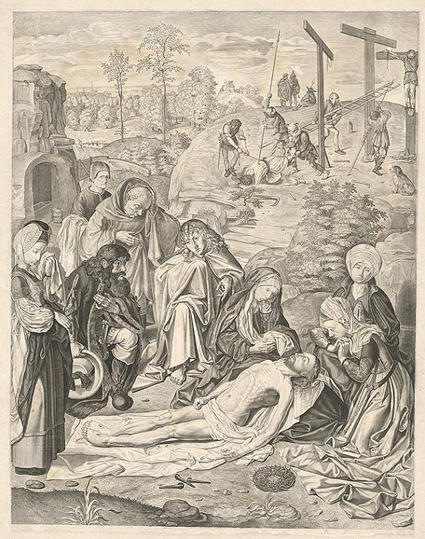 Jans Geertgen tot Sint, Theodor Matham – Oplakávanie Krista