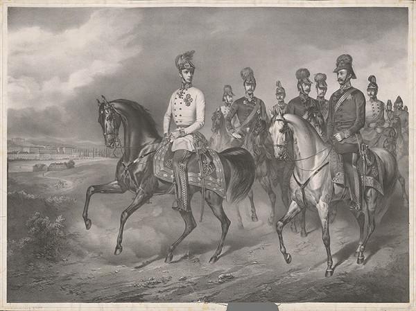 Eduard Kaiser – František Jozef I. so svojimi generálmi