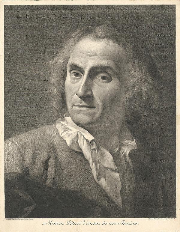 Giovanni Battista Piazzetta - Marcus Pitteri Venetus - portrét