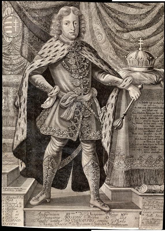 Johann Ulrich Krauss - Jozef I. ako uhorský kráľ