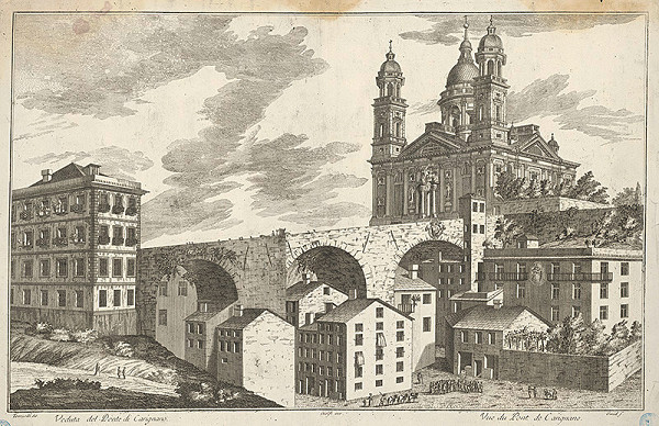 Guid, Antonio Maria Torricelli – Pohľad na most Carignano v Janove