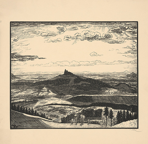 Stredoeurópsky grafik z 20. storočia - Trosky večer