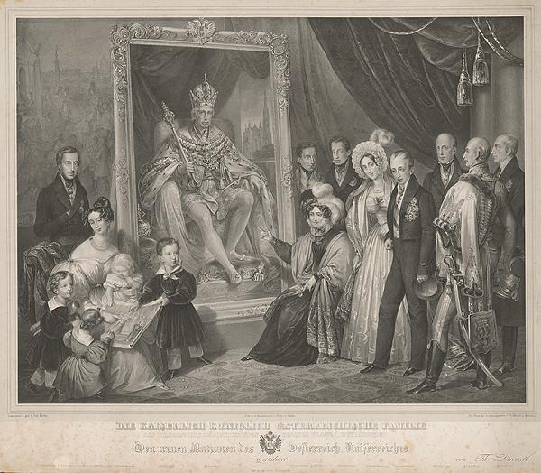 Thomas Driendl, Johann Nepomuk Ender - Cisárska rodina pred obrazom Františka I.