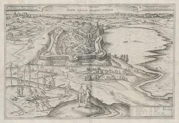 Joris Hoefnagel, Philippo Fernandes - Pohľad na mesto Papa