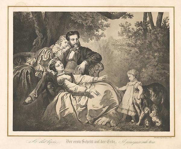 Stredoeurópsky grafik z 19. storočia – Prvý krok na zemi