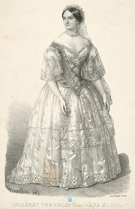 Miklós Barabás – Portrét Kornelie Hollossyovej