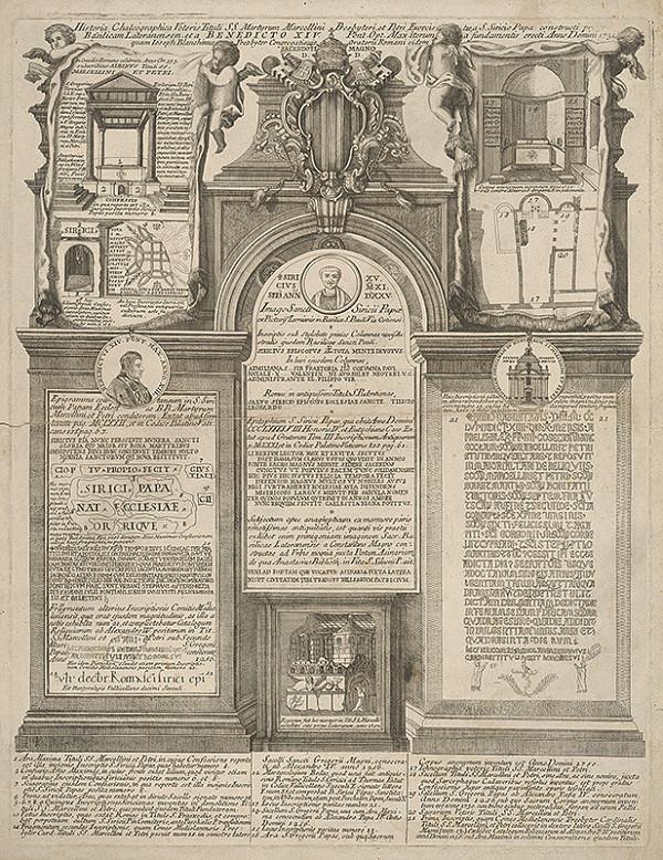 Stredoeurópky grafik z 2. polovice 18. storočia – Pamätný list z príležitosti renovovania Lateránskeho chrámu v r. 1751