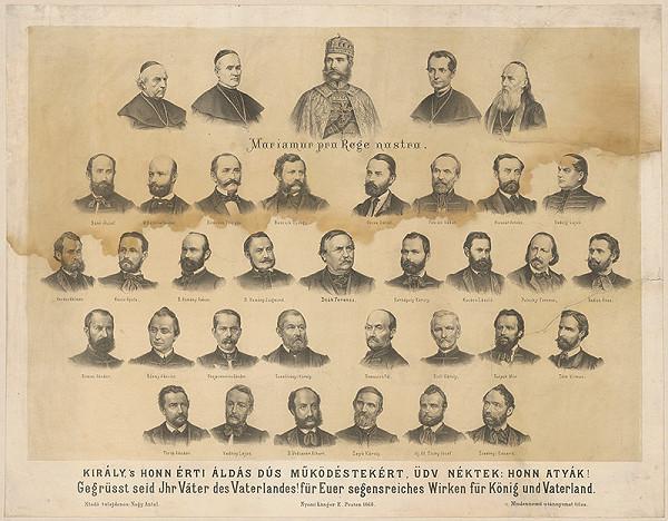 Stredoeurópsky grafik z 1. polovice 19. storočia - Ďakovná listina maďarským národovcom