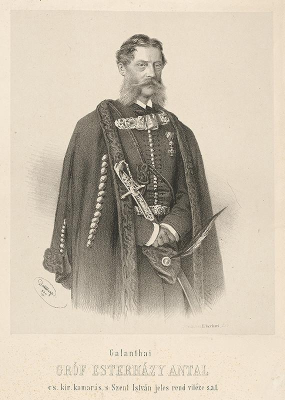 Adolf Dauthage - Portrét grófa Esterházyho