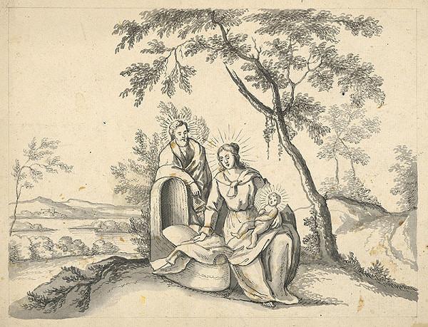 Stredoeurópky grafik z prelomu 18. - 19. storočia - Svätá rodina