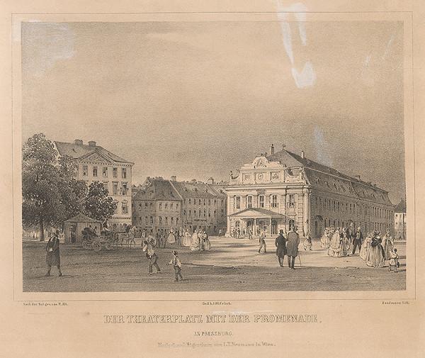 Franz Josef Sandmann, Rudolf Alt – Divadelné námestie