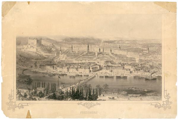 Adolf Eltzner, Thomas Heawood – Bratislava v 19. storočí - pohľad z juhu