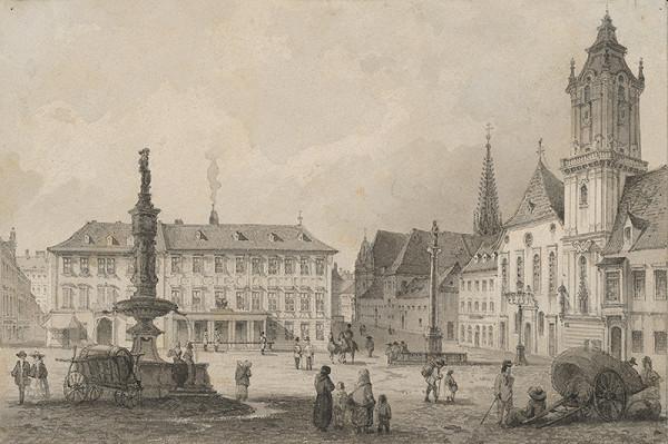 Rudolf Alt - Hlavné námestie v Bratislave