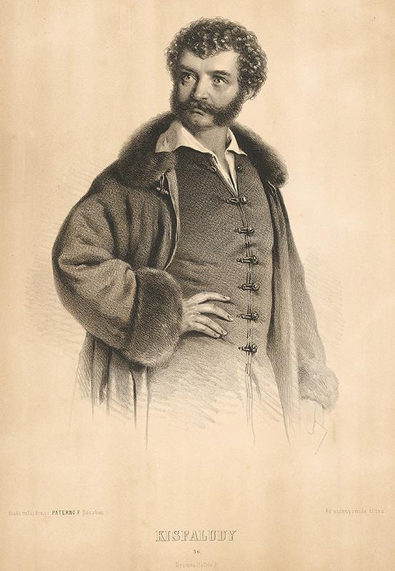 Miklós Szerelmey - Portrét Kisfaludyho