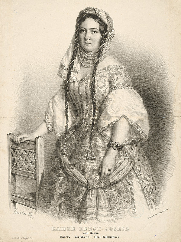 Miklós Barabás – Operná speváčka Jozefa Kaiser Ernst