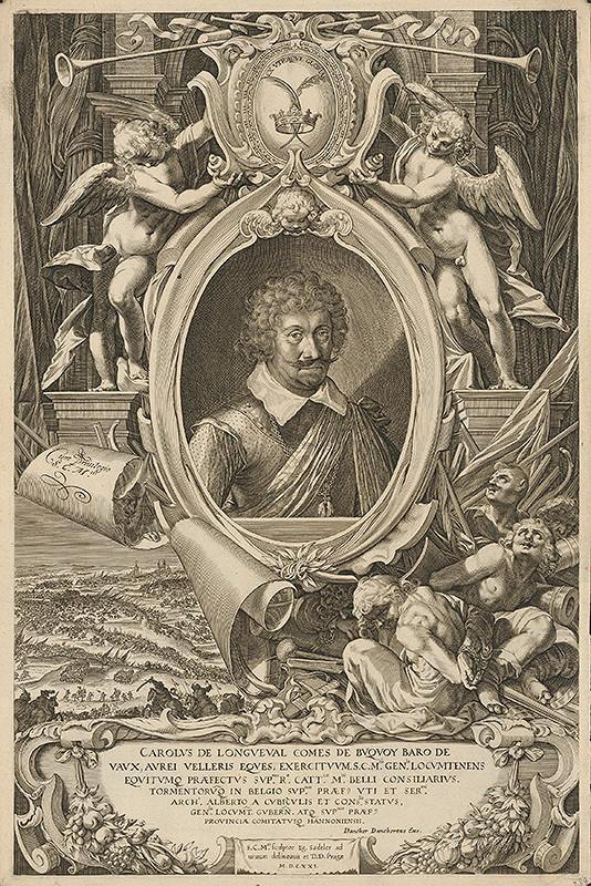 Aegidius Sadeler II. – Portrét generála Karola Bonaventúru de Longueval, grófa de Buguoy
