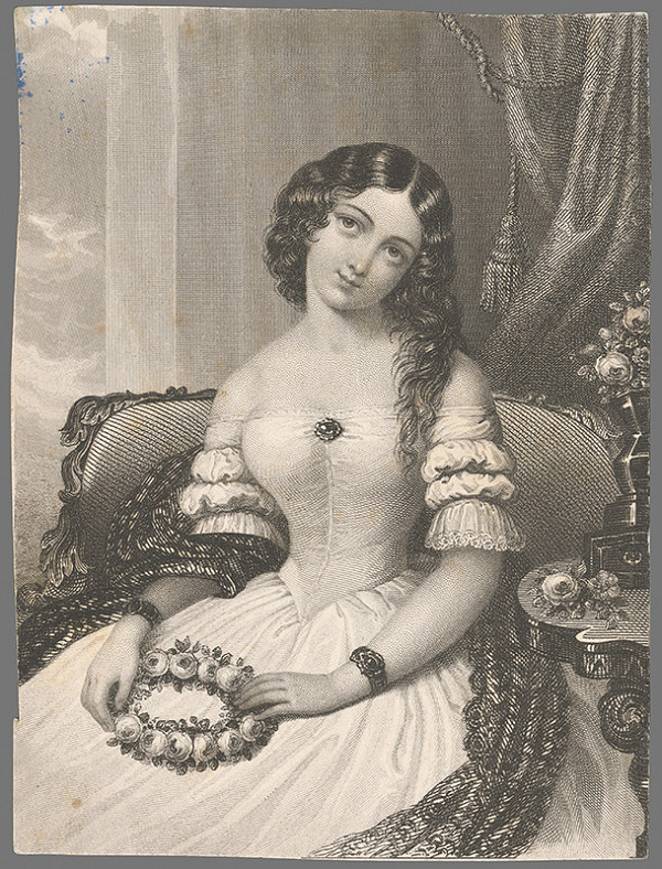 Stredoeurópsky grafik z 1. polovice 19. storočia – Portrét dámy