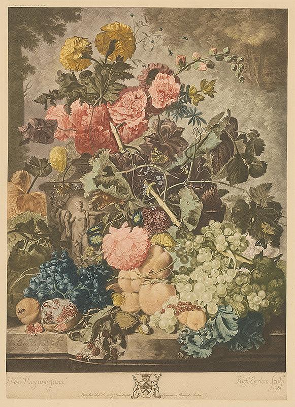 Richard Earlom, Jan van Huysum, John Boydell – Zátišie s kvetmi a ovocím