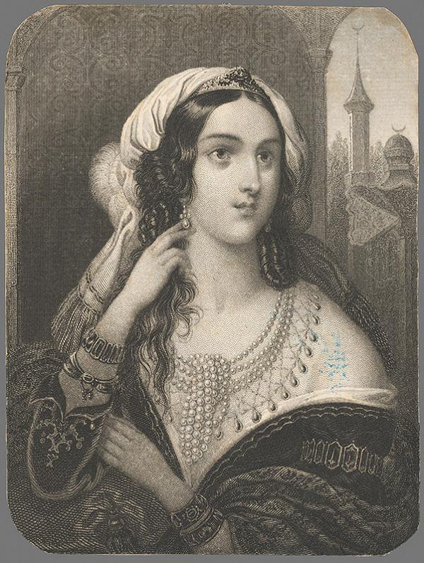 Stredoeurópsky grafik z 1. polovice 19. storočia – Podobizeň tureckej dámy