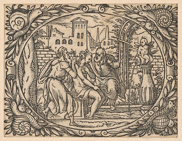 Stredoeurópsky grafik z 2. polovice 17. storočia - Zuzana a starci