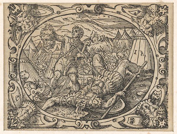 Stredoeurópsky grafik z 2. polovice 17. storočia – Dávid a Goliáš