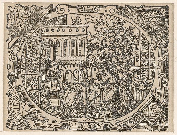 Stredoeurópsky grafik z 2. polovice 17. storočia - Betsabé v kúpeli