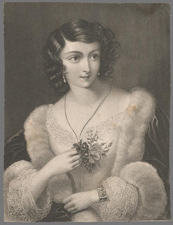 Stredoeurópsky grafik z 2. polovice 19. storočia - Podobizeň dámy