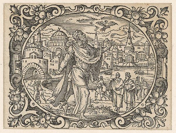 Stredoeurópsky grafik z 2. polovice 17. storočia – List z Biblie-svätec