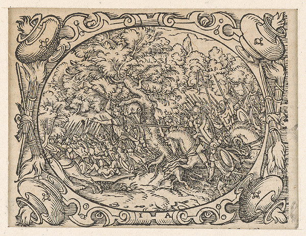 Stredoeurópsky grafik z 2. polovice 17. storočia - Ilustrácia zo Starého zákona