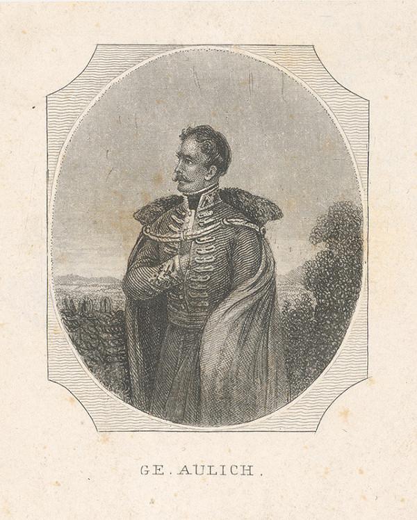 Stredoeurópsky grafik z 1. polovice 19. storočia - Portrét generála Ludwiga Aulicha