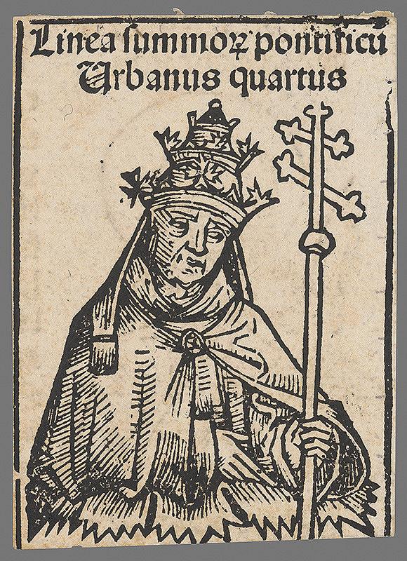 Stredoeurópsky grafik z 1. polovice 16. storočia - Pápež Urban IV.