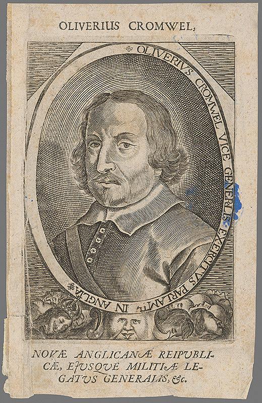 Stredoeurópsky grafik z 2. polovice 17. storočia - Portrét generála Cromwela