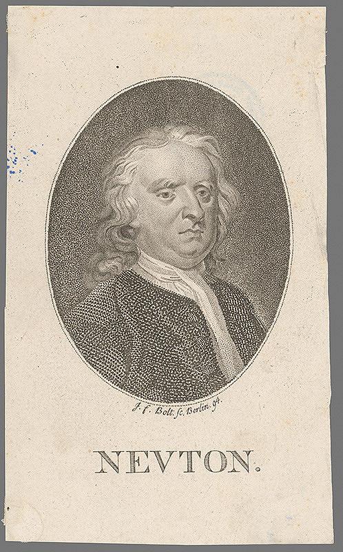 Johann Friedrich Bolt - Portrét Newtona