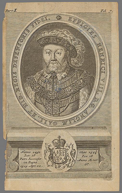 Stredoeurópky grafik z 2. polovice 18. storočia - Portrét Henricha VIII.