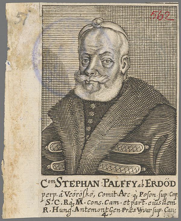 Stredoeurópsky grafik z 1. polovice 18. storočia – Portrét Štefana Pálffyho