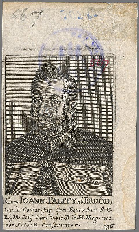 Stredoeurópsky grafik z 1. polovice 18. storočia – Portrét Jána Pálffyho