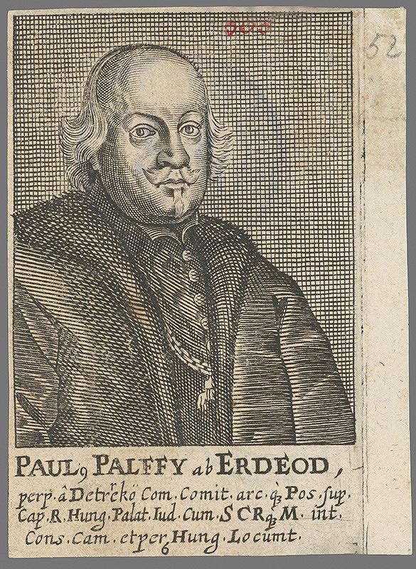 Stredoeurópsky grafik z 1. polovice 18. storočia – Pavol Pálffy z Erdödu