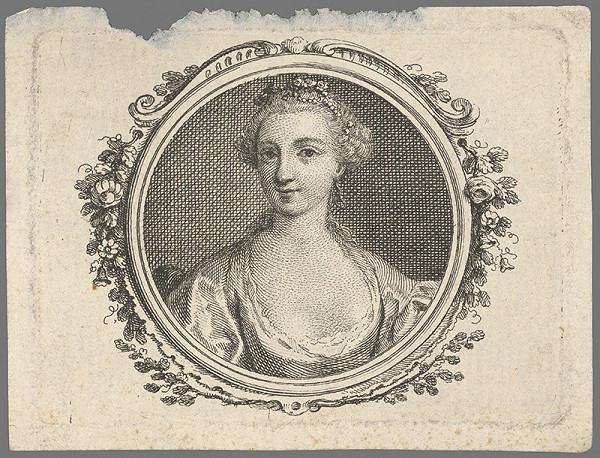 Stredoeurópsky grafik z 1. polovice 18. storočia – Portrét dámy