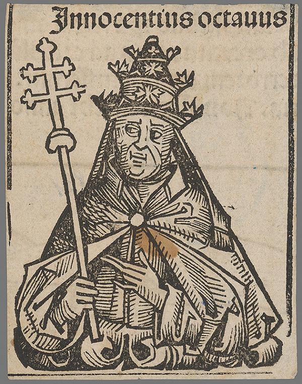 Stredoeurópsky grafik z 1. polovice 16. storočia - Pápež Inocentius VIII.