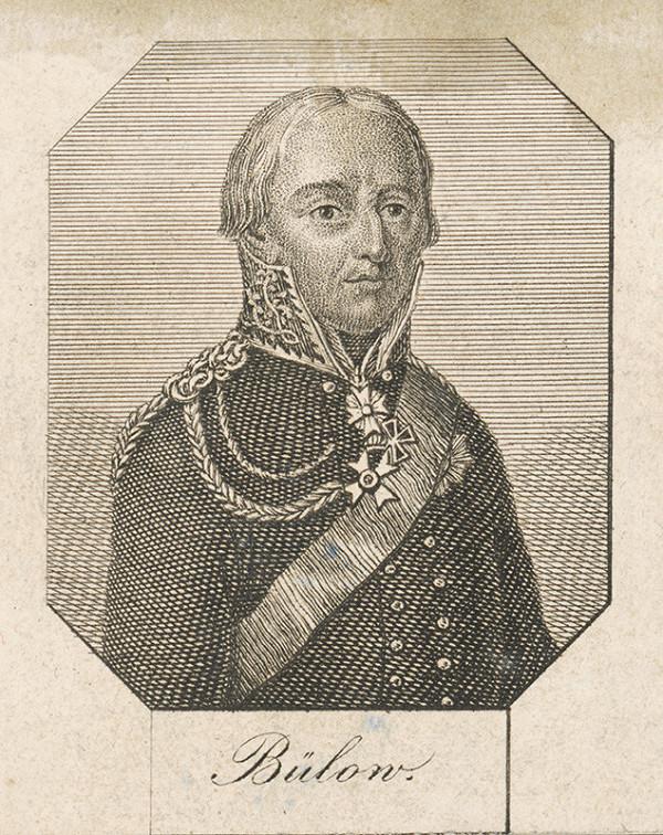 Stredoeurópsky grafik z 1. polovice 18. storočia - Generál Friedrich Wilhelm von Bülow