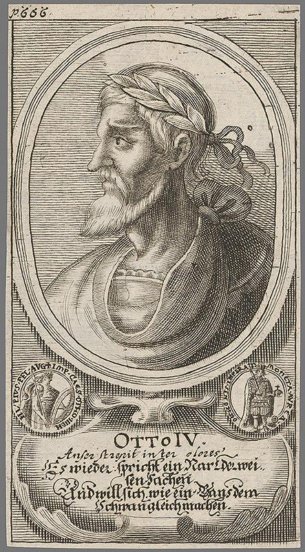 Stredoeurópsky grafik z 1. polovice 18. storočia - Otto IV.