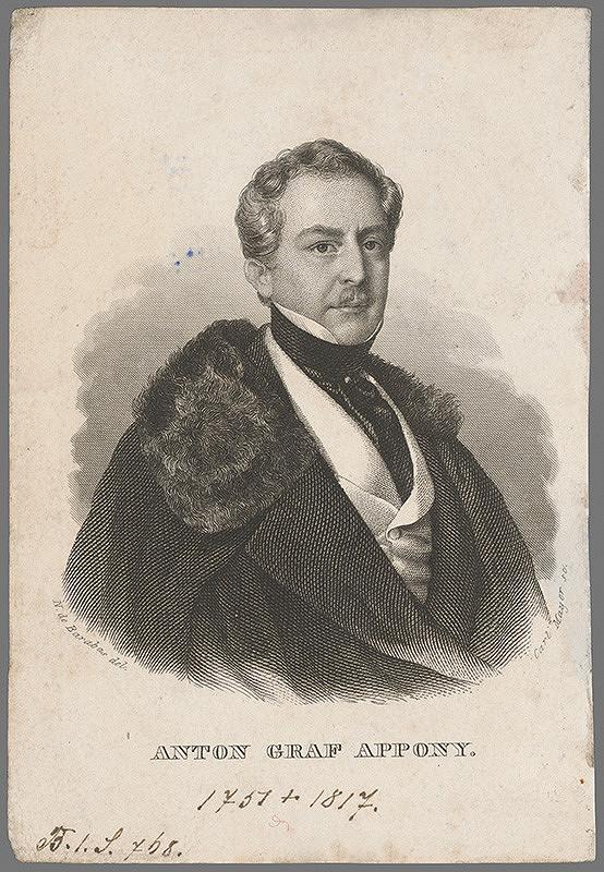 Carl Mayer, Miklós Barabás - Portrét grófa Antona Apponyiho