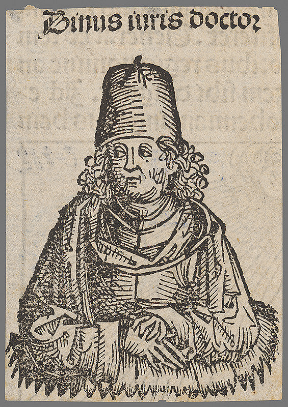 Stredoeurópsky grafik z 1. polovice 16. storočia - Pápež Binus