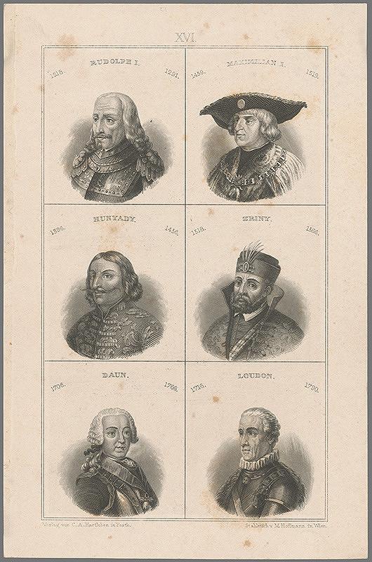 Stredoeurópsky grafik z 19. storočia - Portréty slávnych ľudí