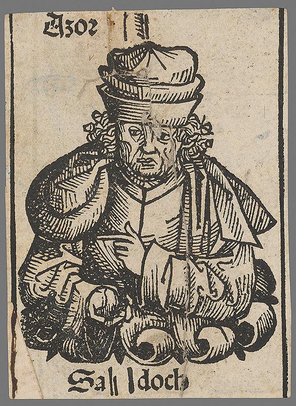 Stredoeurópsky grafik z 1. polovice 16. storočia - Pápež Asor Sah-doch