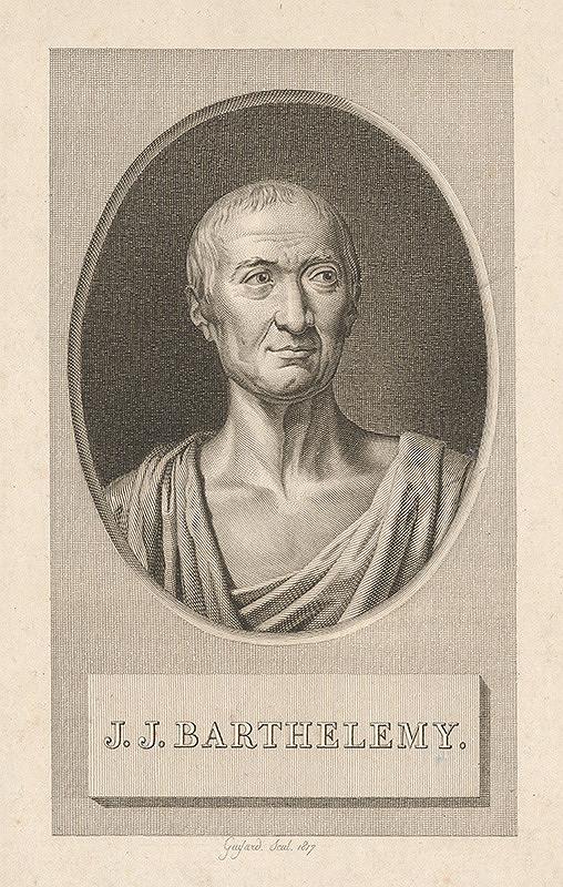 Stredoeurópsky grafik z 19. storočia - Portrét J. J. Barthelemyho