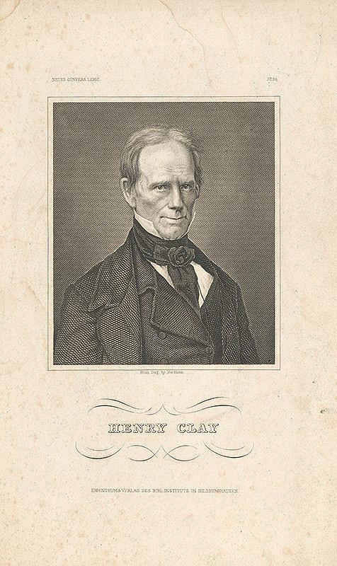 Nemecký grafik z 19. storočia – Portrét Henriho Claya